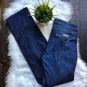 HUDSON Triangle Pocket Straight Jeans 30 x 32 EUC